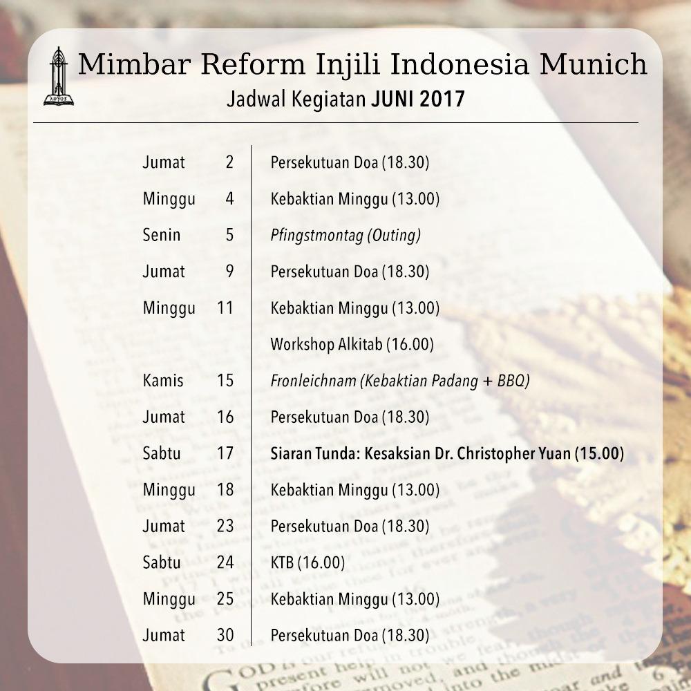 Jadwal Kegiatan MRII München – Juni 2017