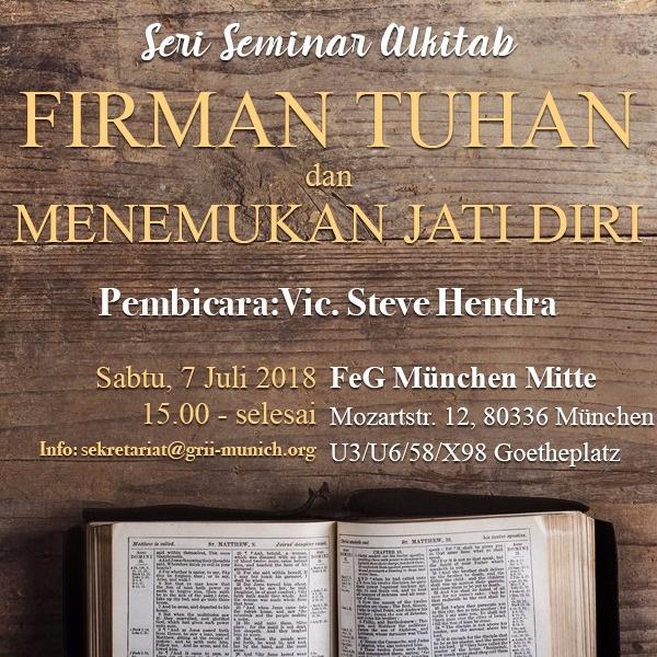 Seminar: Firman Tuhan dan Menemukan Jati Diri